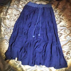 Blue broomstick skirt